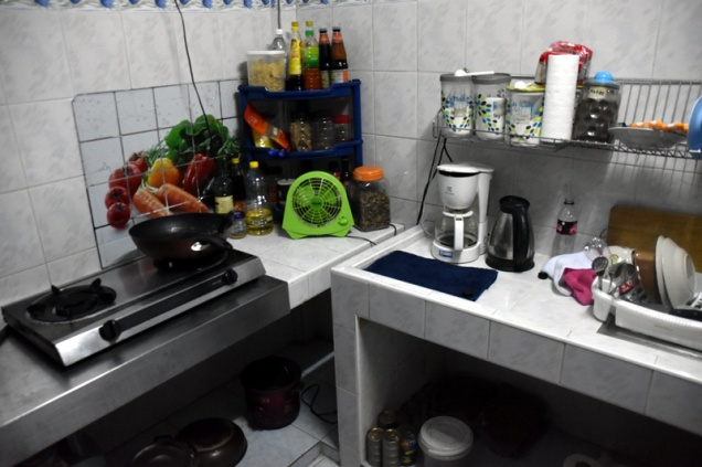 Working area of the kitchen